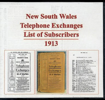New South Wales Telephone Exchanges List of Subscribers 1913