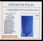 New South Wales Commonwealth Electoral Roll 1939 Warringah