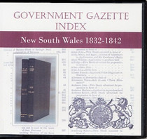 New South Wales Government Gazette Index 1832-1842