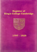 King's College Register, Cambridgeshire 1797-1925