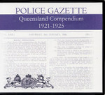 Queensland Police Gazette Compendium 1921-1925