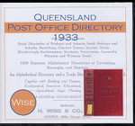Queensland Post Office Directory 1933 (Wise)