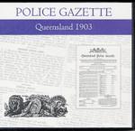 Queensland Police Gazette 1903