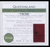 Queensland Post Office Directory 1936 (Wise)