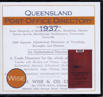 Queensland Post Office Directory 1937 (Wise)