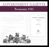 Tasmanian Government Gazette 1941