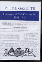 Queensland Police Gazette 20th Century Set 1901-1945