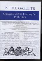 Queensland Police Gazette 20th Century Set 1901-1945