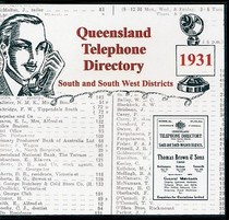 Queensland Telephone Directory 1931: South and South Western Districts