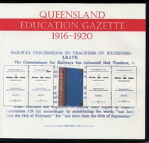 Queensland Education Gazette Compendium 1916-1920