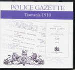Tasmania Police Gazette 1910