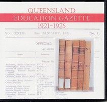 Queensland Education Gazette Compendium 1921-1925
