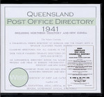 Queensland Post Office Directory 1941 (Wise)