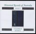 Historical Records of Australia Series 1 Volume 16