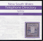 New South Wales Telephone Directory 1939: Sydney