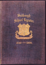 Sedbergh School Register, Yorkshire 1546-1909
