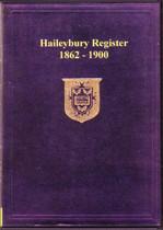 Haileybury School Register, Hertfordshire 1862-1900