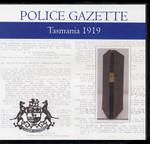 Tasmania Police Gazette 1919