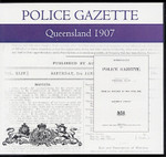 Queensland Police Gazette 1907