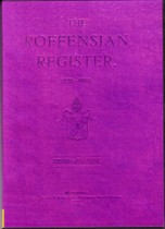 The Roffensian Register, Kings School, Kent 1835-1920