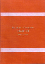 Radley College Register, Oxfordshire 1847-1904