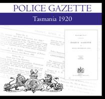 Tasmania Police Gazette 1920