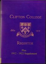Clifton College Register, Gloucestershire 1862-1912