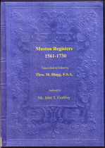 Leicestershire Parish Registers: Muston 1561-1730