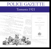 Tasmania Police Gazette 1921