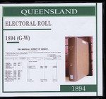 Queensland State Electoral Roll 1894 (G-W)