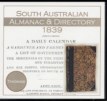 South Australian Almanac and Directory 1839 (Thomas)