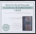 South Australian Almanac and Directory 1845 (Allen)