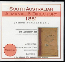 South Australian Almanac and Directory 1851 (Murray)