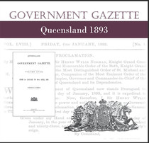 Queensland Government Gazette 1893