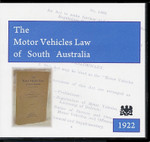 Motor Vehicle Law in South Australia 1922
