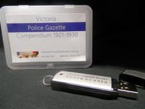 Victoria Police Gazette Compendium 1921-1930 (USB)