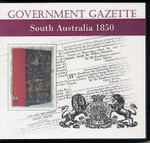 South Australian Government Gazette 1850
