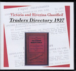 Victoria and Riverina Classified Traders Directory 1937