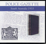 South Australian Police Gazette 1933