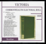 Victoria Commonwealth Electoral Roll 1939 Bendigo