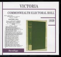 Victoria Commonwealth Electoral Roll 1939 Bendigo