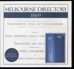 Melbourne Directory 1869 (Sands and McDougall)