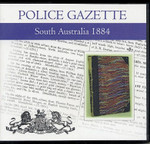 South Australian Police Gazette 1884