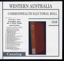 Western Australia Commonwealth Electoral Roll 1949 Canning