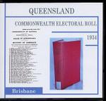 Queensland Commonwealth Electoral Roll 1934 Brisbane