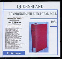 Queensland Commonwealth Electoral Roll 1934 Brisbane