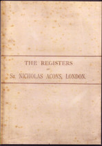 London Parish Register: St Nicholas Acons 1539-1812