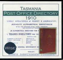Tasmania Post Office Directory 1910 (Wise)