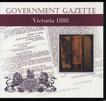 Victorian Government Gazette 1888