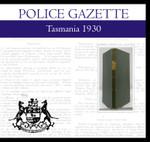 Tasmania Police Gazette 1930